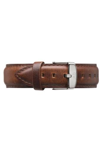 Classic St Mawes-Strap Silver 20mm,esprit 台北 錶類, 皮革錶帶