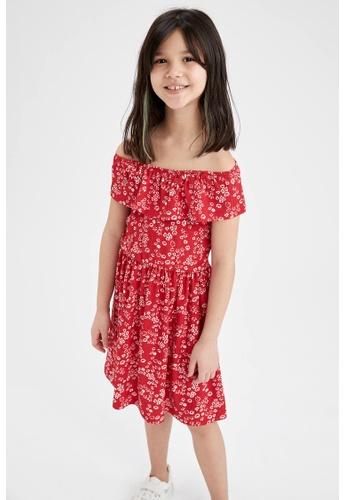 DeFacto red Girl Dress DB300KA8D2F948GS_1
