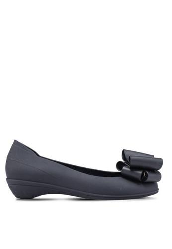 Twenty Eight Shoes 黑色 甜心蝴蝶結果凍膠小踭平底鞋 m071 224C6SH2F092EDGS_1