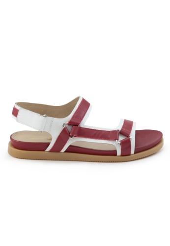 Shu Talk 紅色 舒適輕巧雙帶運動款涼鞋 SH544SH09RJBTW_1