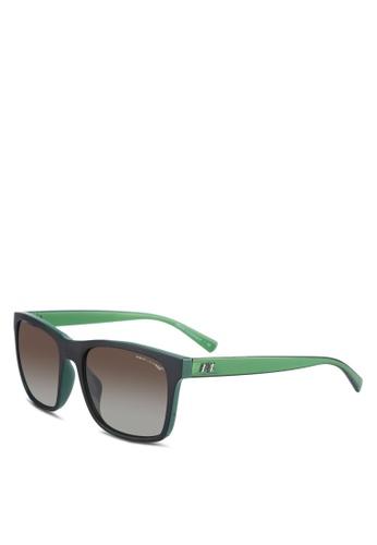 Armani Exchange black Green AX4063SF Sunglasses AR162GL0RNHXMY_1