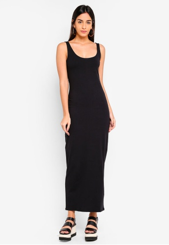 Supre black Basic Maxi Dress DC7C6AA41A285BGS_1