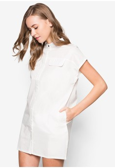 Drop Shoulder Minimalist Shirt Dress