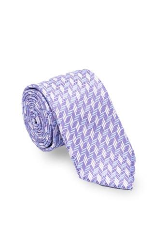 Maverick & Co. 紫色 Maverick & Co. 紫色千鳥格紋領帶 E55D2ACAE51C22GS_1