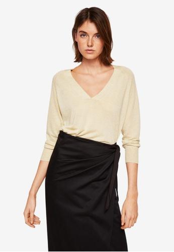 Mango brown Knit Linen Sweater 6C206AA837874AGS_1