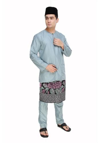 Amar Amran blue Baju Melayu Teluk Belanga 6FB5EAA88E4A83GS_1