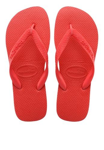 Havaianas red Top Flip Flops DE55ASH821B3E7GS_1