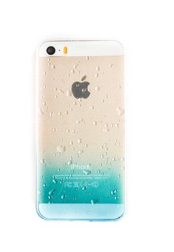 Fancy Cellphone Cases blue Ombre Soft Transparent Case for iPhone 5/5s/SE   FA644AC44WGLPH_1