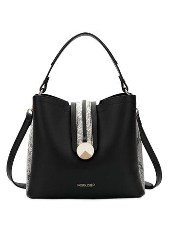 Swiss Polo black Swiss Polo Ladies Top Handle Sling Bag B679DAC5D5A223GS_1