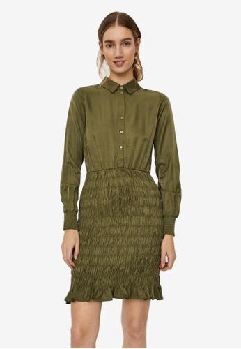 Vero Moda green Zadia Short Smock Dress 7C574AAAF284ACGS_1