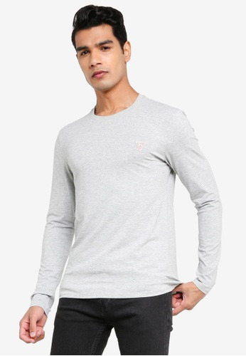 GUESS grey Crew Neck Long Sleeves Core Tee 61A44AA372138EGS_1
