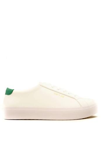 CDE white CDE Ceremonial Women Sneaker White/Green CD965SH07LJWID_1