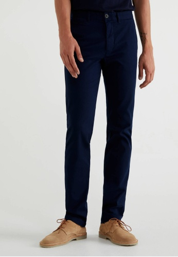 United Colors of Benetton blue Slim Fit Chinos 6629CAA20C3A28GS_1