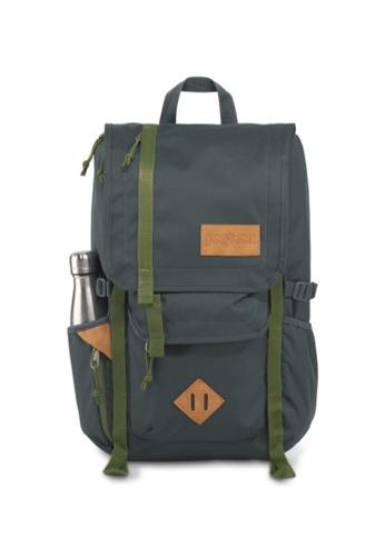 Jansport green Jansport Unisex Hatchet Backpack Dark Slate W/New Olive - 28L 09A33AC92C2F59GS_1