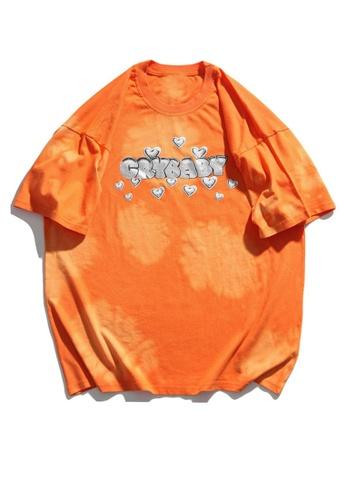Twenty Eight Shoes Dip-Dyed Printed Short T-shirt HH1019 42D67AA1EEB5A0GS_1
