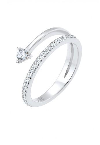 Elli Germany silver Perhiasan Wanita Perak Asli - Silver Cincin Geo Swarovski® Crystal And Zirconia Silver 9F004ACC7C50F3GS_1