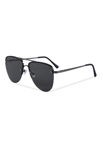 Quattrocento Eyewear Quattrocento Eyewear Italian Sunglasses with Black Lenses Model Rizzo 62930GLE2AC626GS_1