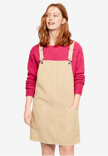 Shop Violeta by MANGO Plus Size Corduroy Pinafore Dress Online on ...