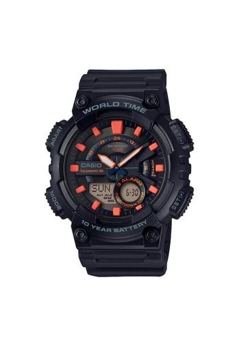 Casio black CASIO GENERAL AEQ-110W-1A2VDF UNISEX'S WATCH A6E83ACA19B62CGS_1