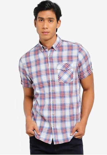 02578985e LC Waikiki red Short Sleeve Regular Fit Checked Pattern Shirt  A18F2AA2CDB9C6GS 1