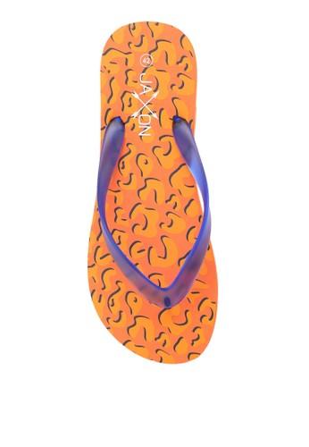 JAXON orange Leopard Print Flip Flops B79AASH83E87F6GS_1