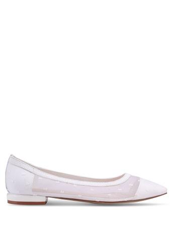 Nose 白色 Mesh Lace Low Heel Pumps E9595SH4670AFFGS_1