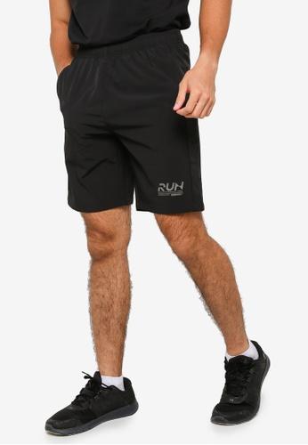 361° black Running Series Sports Knee Shorts EACF2AA6A9052CGS_1