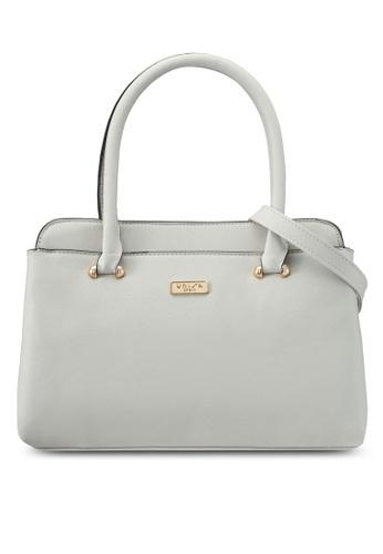 Unisa grey Saffiano Convertible Shoulder Bag UN821AC0SRVDMY_1