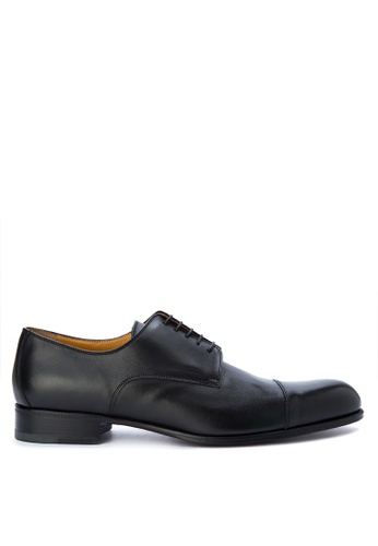 A. Testoni black Men's Dress Shoes Cap Toe AT299SH0K4C3PH_1