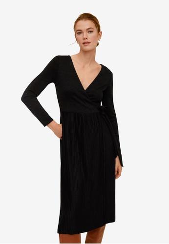 Mango black Pleated Skirt Dress A42CEAAE936998GS_1