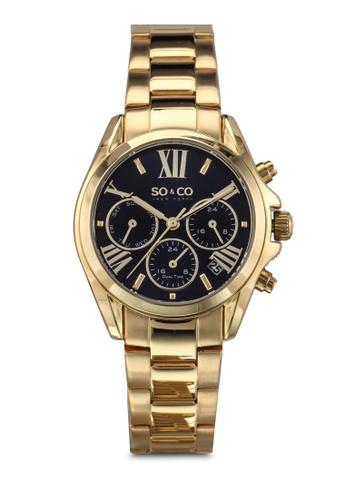 SO&CO gold Madison Watch 5064 SO540AC0SHMSMY_1
