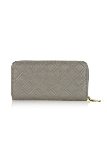 Dazz grey Calf Leather Iconic Quilted Wallet - Light Grey DA408AC0S9JXMY_1