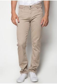 Low waist, Slim Tapered Non-Denim Pants