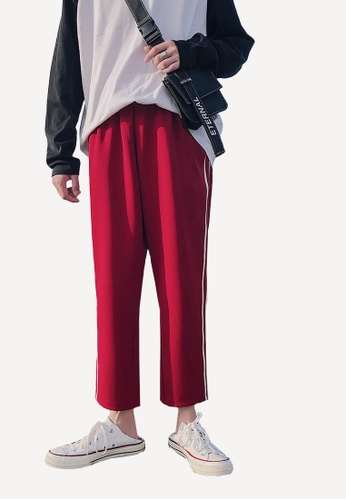 hk-ehunter 紅色 條紋九分褲 D1888AA7043CD8GS_1