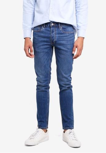 Topman 藍色 緊身牛仔褲 8FD82AA0CFFD38GS_1