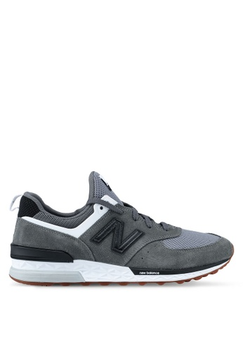 New Balance grey 574 Sport Lifestyle Sneakers EAA4DSH79F5A7CGS_1