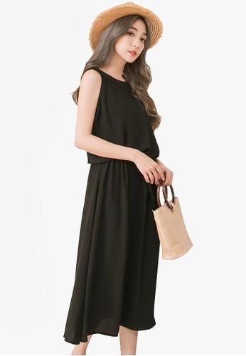 Eyescream black Midi Dress With Drawstring 95D56AA764E896GS_1