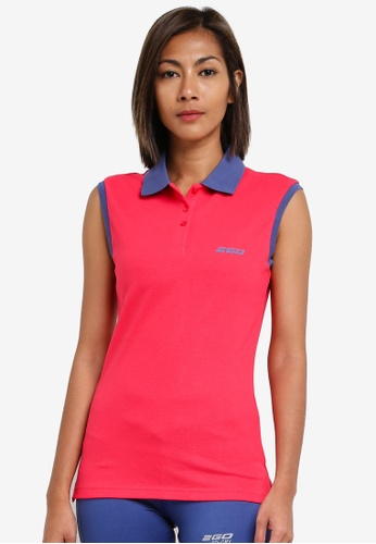 2GO pink Sleeveless Polo Shirt 2G729AA0S5WXMY_1