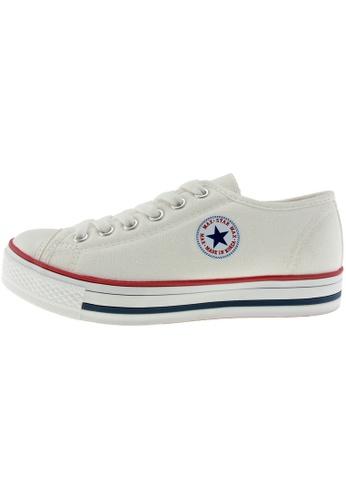 Maxstar 白色 新款韩国鞋C1-6H時尚帆布布混合女白色 US Women Size MA345SH09GWSTW_1