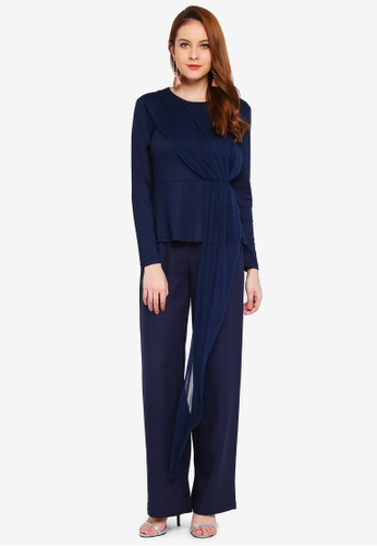 Lubna blue Side Part Top 2A8B4AA2578B5AGS_1