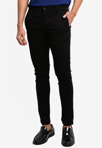 LC Waikiki black Extra Slim Fit Gabardine Chino Trousers 6A1EBAA2F376FCGS_1