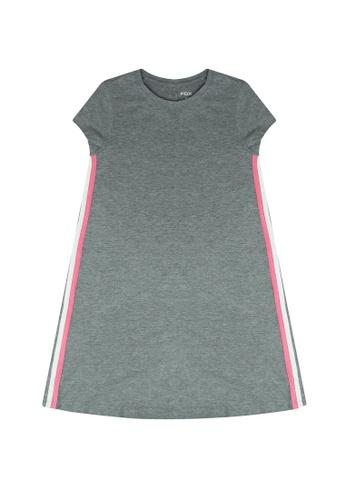 FOX Kids & Baby grey Side Stripes Detail Dress 52A5EKA86EE75CGS_1