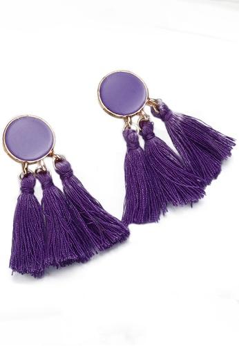 Sunnydaysweety purple Tassel Drop Earrings CA030207PU 57576ACC9AC031GS_1