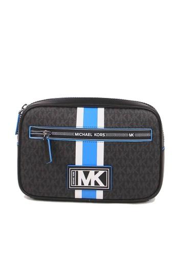 Michael Kors black Michael Kors Cooper Logo Stripe 37U0LCOY1B Convertible Sling Pack In Neon Blue 2BD08AC86122E9GS_1
