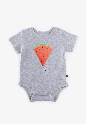 Little Kooma grey Baby Watermelon Bodysuit - 1006 Grey CE29FKAB4658E0GS_1