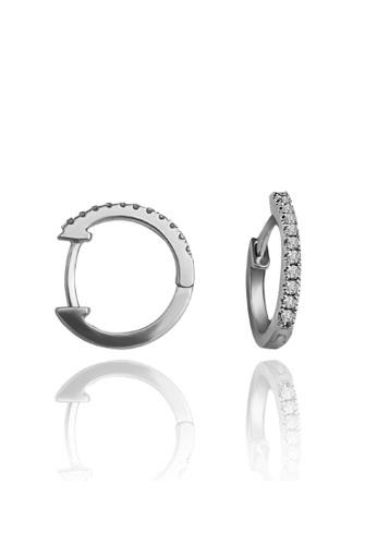 """GOLDHEART white Tomei x Goldheart 9K White Gold + Palladium """"Espoir"""" Diamond Earrings (E1308) E1A80ACBB5DA43GS_1"""