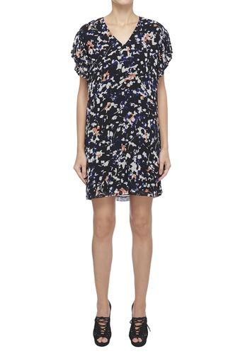 DKNY black DKNY Women Printed V-Neck Dress 69217AA5F99A69GS_1
