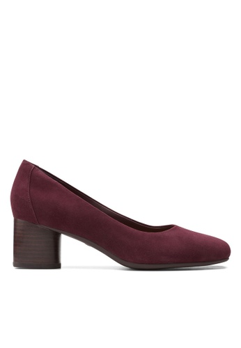 Clarks CLARKS Un Cosmo Dress Burgundy Suede Womens Dress Shoes EC753SH306D36EGS_1