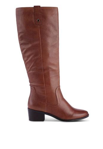 ALDO 褐色 紋理長靴 3DE7DSH8DF68D5GS_1