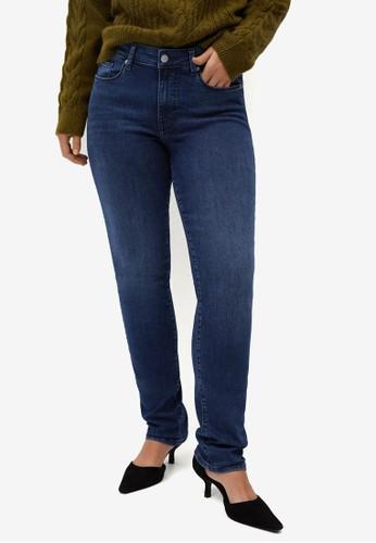 Violeta by MANGO blue Plus Size Slim-Fit Valentin Jeans AD942AAF8D36D9GS_1